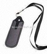 Leather Lanyard Neck Pouch